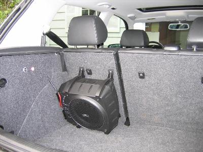 Infinity Basslink mounted to rear seat